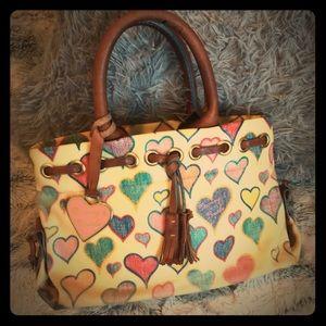 Vintage Dooney and Bourke Heart doodle bag